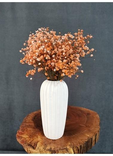Kuru Çiçek Deposu Kuru Çiçek Şoklanmış Cipso Mavi 45 Cm Oranj